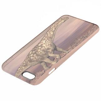 Big argentinosaurus dinosaur walking quietly in th clear iPhone 6 plus case