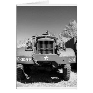 Big Army Truck Card