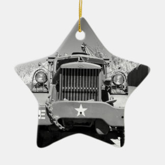 Big Army Truck Ceramic Ornament