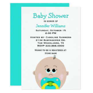 Big Baby Face Baby Shower Invitation