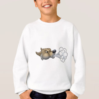 Big Bad Wolf Blowing Sweatshirt