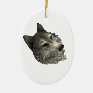 Big Bad Wolf Ceramic Ornament