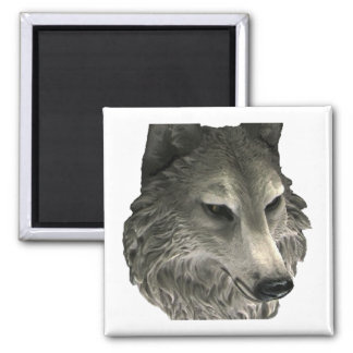 Big Bad Wolf Square Magnet