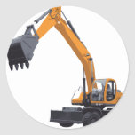 Big Bagger Excavator Round Stickers