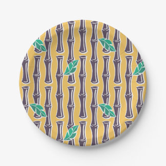 """Big Bamboo - Yellow - 7"""" Paper Plate 7 Inch Paper Plate"""