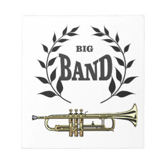 big band trumpet notepad