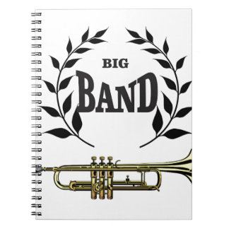 big band trumpet spiral note books