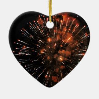 Big Bang Ceramic Heart Ornament