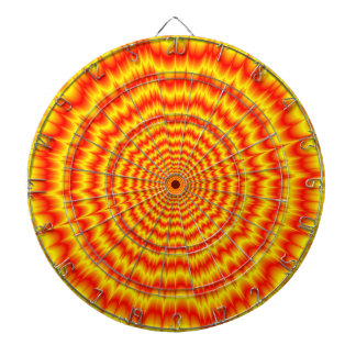 Big Bang in Red and Yellow Dartboard