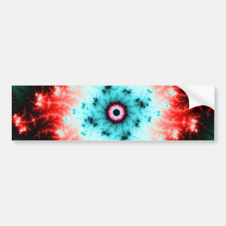 Big Bang - red and blue fractal explosion Bumper Sticker
