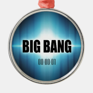 Big Bang Silver-Colored Round Ornament