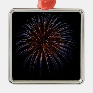 Big Bang Silver-Colored Square Ornament
