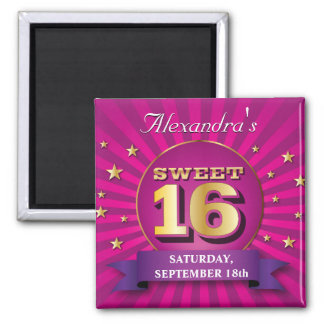 Big Bash Pink Sweet 16 Party Magnet
