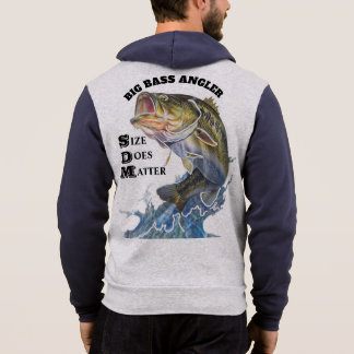BIG BASS ANGLER / SIZE DOES MATTER HOODIE