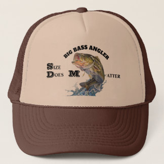 BIG BASS ANGLER / SIZE DOES MATTER TRUCKER HAT