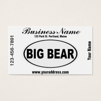 Big Bear California Business Card