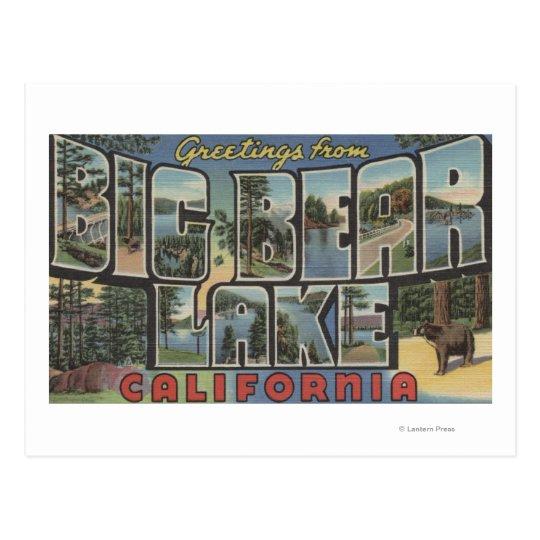 Big Bear Lake, California - Large Letter Scenes 2 Postcard