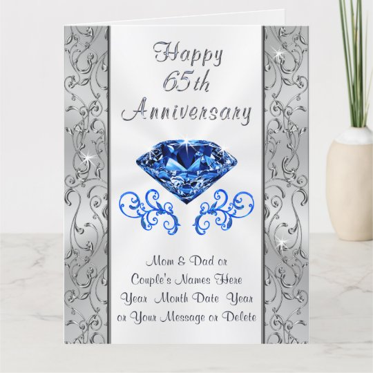65 Wedding Anniversary Gift: Big Beautiful 65th Wedding Anniversary Cards