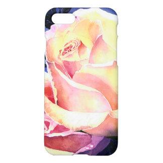 Big Beautiful Pink Rose Watercolor iPhone 7 Case