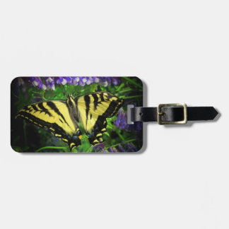 Big Beautiful Yellow and Black Butterfly Luggage Tag
