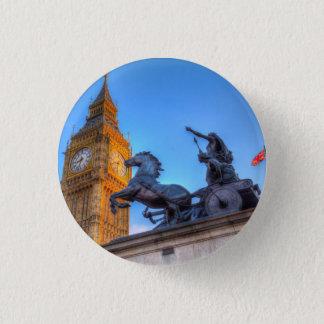 Big Ben and Boadicea Statue 1 Inch Round Button