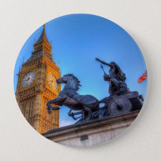 Big Ben and Boadicea Statue 4 Inch Round Button
