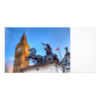 Big Ben and Boadicea Statue Card