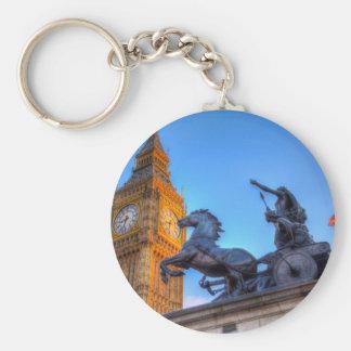 Big Ben and Boadicea Statue Keychain