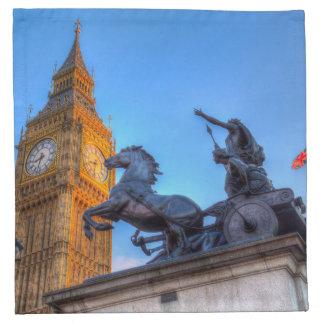Big Ben and Boadicea Statue Napkin