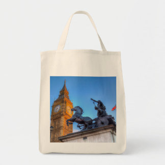 Big Ben and Boadicea Statue Tote Bag