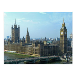 Big Ben and Houses of Parliament - London Postcard