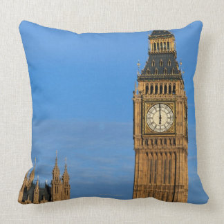 Big Ben and Parliament Building Throw Pillow