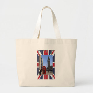 Big Ben and Red Telephone box in London Canvas Bag