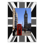 Big Ben and Red Telephone box in London Greeting Card