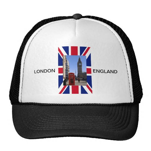 Big Ben and Red Telephone box in London Mesh Hats