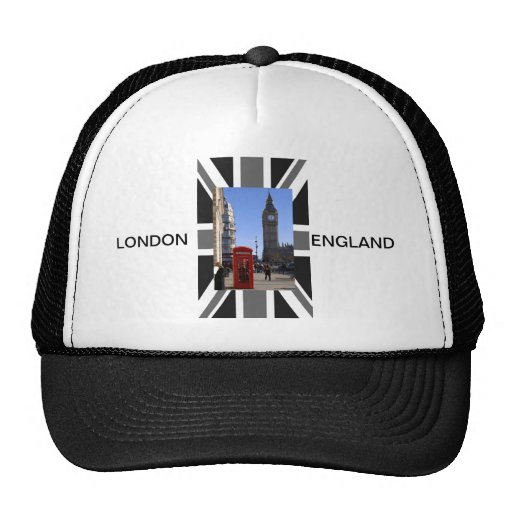 Big Ben and Red Telephone box in London Mesh Hat