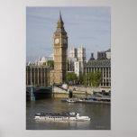 Big Ben and Thames River Poster