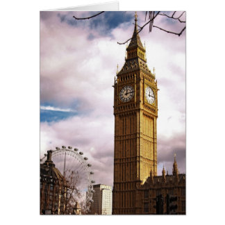 Big Ben and the London Eye Card