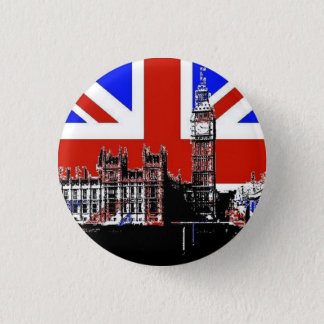 Big Ben and the Union Jack 1 Inch Round Button
