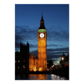Big Ben by night Poster