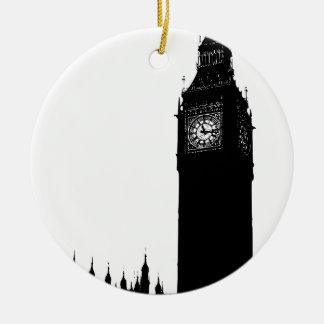 big ben clock ceramic ornament
