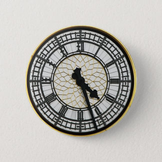 Big Ben Clock Face 2 Inch Round Button