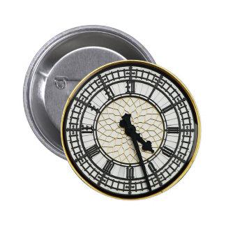 Big Ben Clock Face 2 Inch Round Button