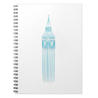 Big Ben Clock Tower Landmark Notebook