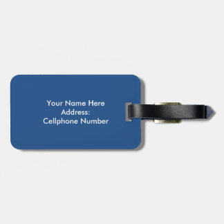 Big Ben Custom name and Address Luggage Tag