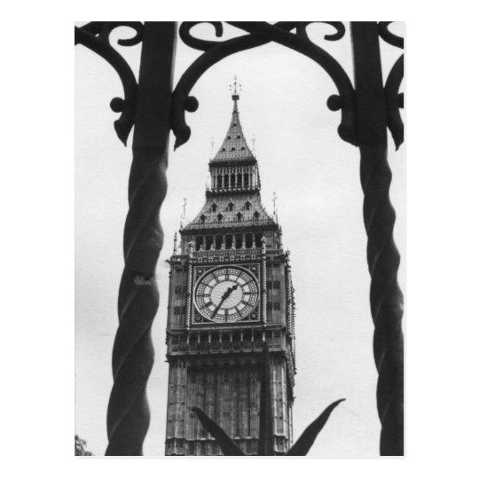 Big Ben in Black & White Postcard