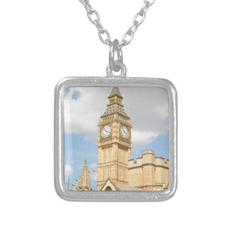 Big Ben in London Silver Plated Necklace