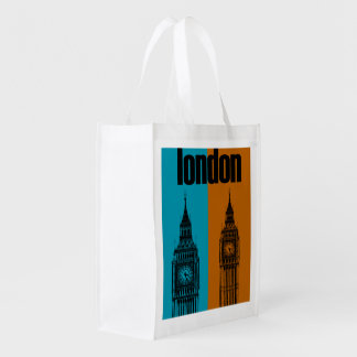 Big Ben in London, Ver. 2 Grocery Bags