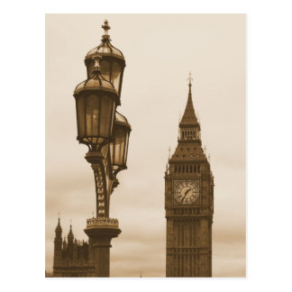 Big Ben in the Background - Postcard