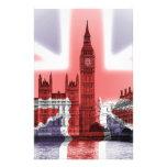Big Ben London and Union Jack flag Custom Stationery